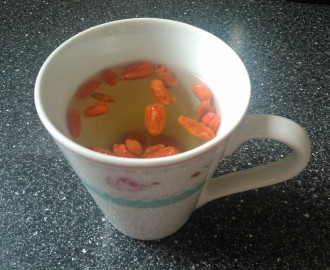 zelený čaj s goji