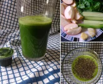 Jablko - špenát - zázvor zelené smoothie