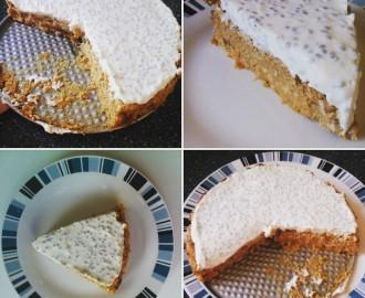Mrkvový koláč s chia polevou